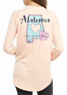 Red Camel Raglan Alabama State Southern Charm Sweeper