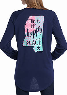 Red Camel This is My Happy Place Mississippi Raglan Tee