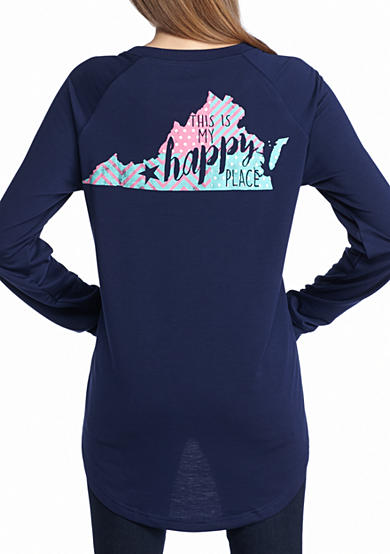 Red Camel® This is My Happy Place Virginia Raglan Tee