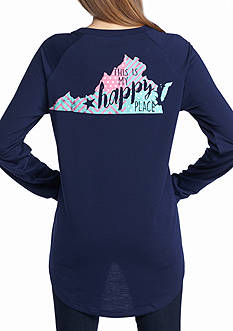Red Camel This is My Happy Place Virginia Raglan Tee