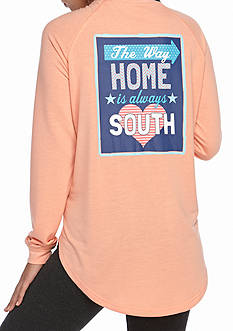 Red Camel® Left My Heart In The South Raglan Knit Top