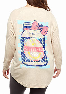 Red Camel Plus Size Mason Jar Raglan Sweeper