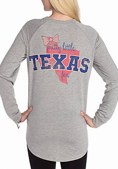Red Camel Raglan Bow State Fan Texas