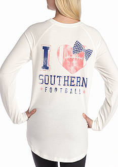 Red Camel Raglan Sweeper 'I Love Southern Football'