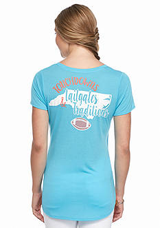 Red Camel® North Carolina Pocket Tee 'Touch Down Tailgates'