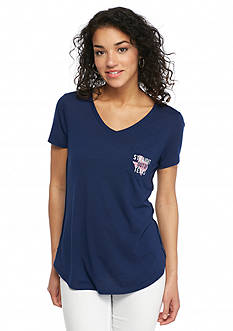 Red Camel 'Straight Out Of ' Texas State Pocket Tee
