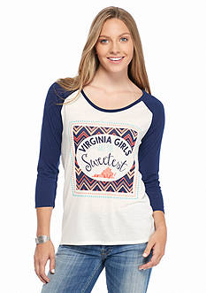Red Camel Baseball Girls are the Sweetest Virginia Tee