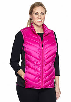 be inspired® Plus Size Packable Puffer Vest