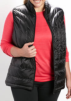 be inspired Plus Size Solid Puffer Vest