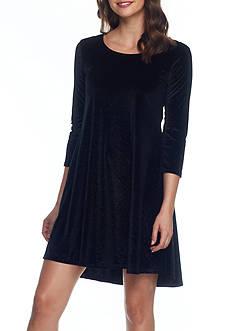 Joan Vass New York Sparkle Tunic Dress