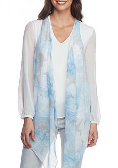 Joan Vass New York Drape Front Vest