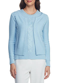Joan Vass New York Hook And Eye Cardigan