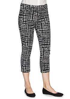 joan vass Printed Cropped Pants