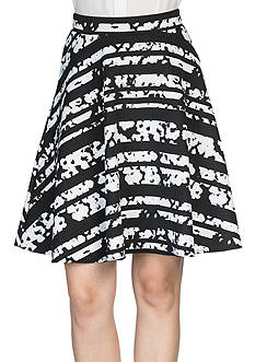 joan vass Printed A-Line Skirt