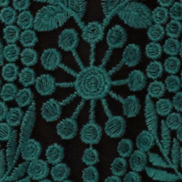 Green Blouse: Rich Forest Joan Vass New York Boat Neck Lace Top