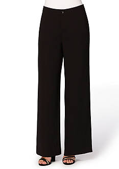 Joan Vass New York Wide Leg Fly Front Pants