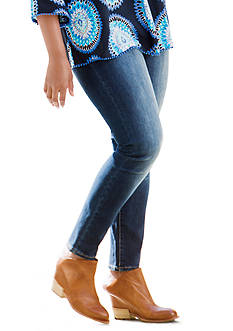 Crown & Ivy™ Plus Size Skinny Denim Jean - Regular Inseam
