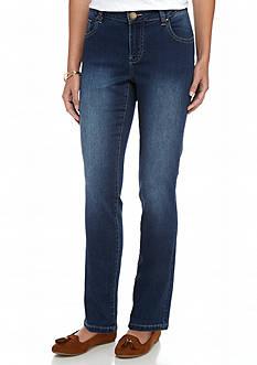 crown & ivy™ Straight Leg Denim Jeans