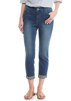 Crown & Ivy™ 5 Pocket Denim Crop Length Jeans