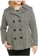 Rampage Plus Size Cailee Classic Peacoat