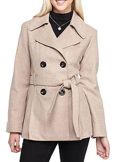 Rampage Jessica Tie Waist Coat