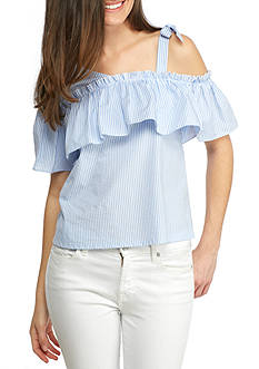 Flying Tomato Tie Shoulder Top