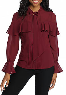 Flying Tomato Poet Ruffle Blouse
