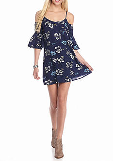 Jealous Tomato Floral Cold Shoulder Dress