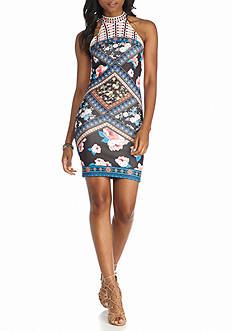 Jealous Tomato Scuba Printed Halter Dress