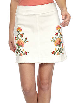 Jealous Tomato Embroidered Denim Skirt