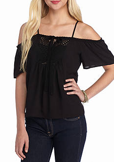 Jealous Tomato Cold Shoulder Top