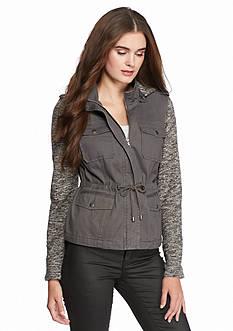 Sebby Twill Jacket With Melange Sleeve