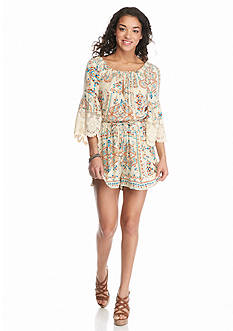Patrons of Peace Lace Sleeve Romper
