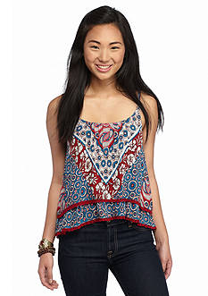 Patrons of Peace Spaghetti Strap Printed Top