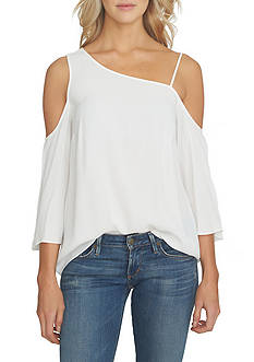 1. State One Shoulder Flounce Sleeve Blouse