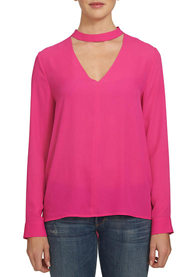 1. State Long Sleeve Bar Neck Blouse