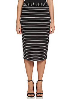 1. State Striped Midi Skirt