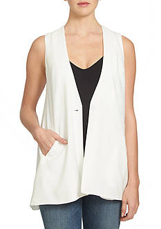 1. State Collarless Long Vest