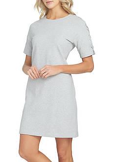 1. State Rib Trim T-Shirt Dress