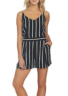 1. State Striped V-Neck Romper