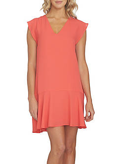1. State V-Neck Flounce Shift Dress