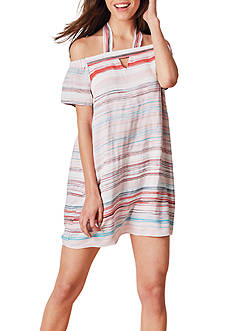 1. State Stripe Cold Shoulder Dress