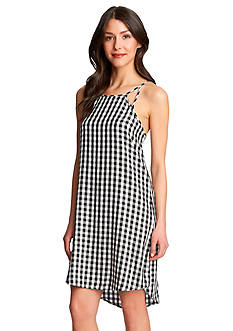 1. State Gingham High Low Dress