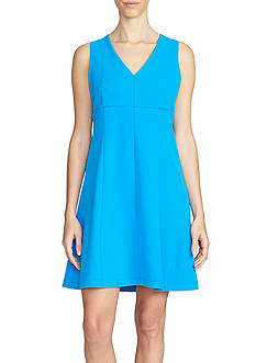 1. State Sleeveless V-Neck Fit and Flare Dress