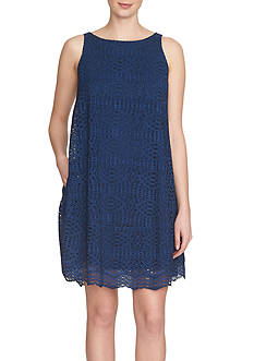 1.State Sleeveless Trapeze Dress