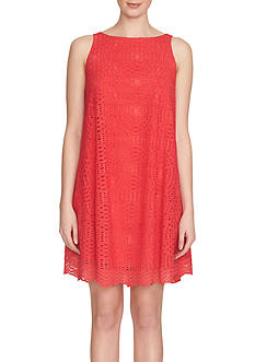 1. State Sleeveless Trapeze Dress
