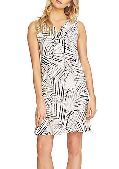 1. State Sleeveless Lace Up Shift Dress