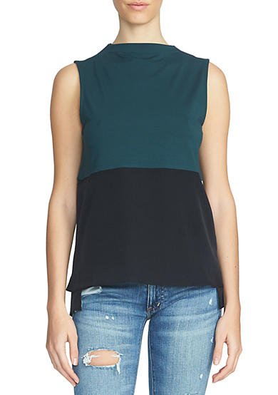 1. State Sleeveless Colorblock Top