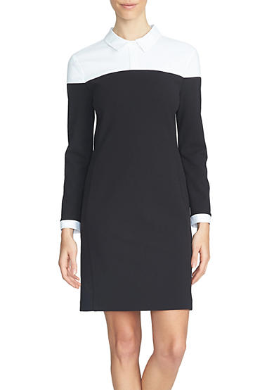 1. State Collared Colorblock Dress