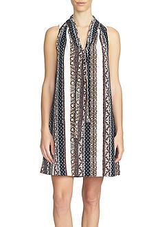 1. State Print Tie Dress
